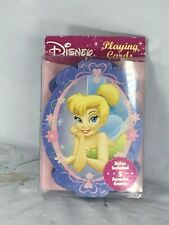 New Disney Princess Tinker Bell Shaped Playing Cards, 5 Games Free Shipping