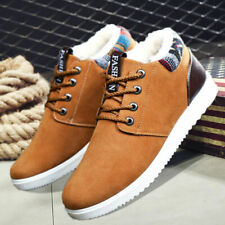 Mens  Ankle Boots Warm Trainers Fur Lined Walking Hiking Winter outdoor new