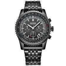 Orologio cronografo lusso Resistente all'acqua cinturino in acciaio inossidabile