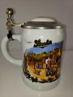 "Vintage ~ Stroh's Beer ""Bavaria Collection"" No. II Ceramic Lidded Stein #12922"