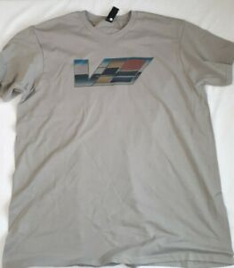 Caddy Cadillac ATS CTS V Emblem Logo T-Shirt XL Gray NEW