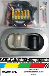 IGNITION - FILTER SERVICE Kit for NISSAN PATROL GQ TB42S CARBY Petrol 4.2L 88-95