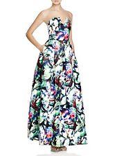 PARKER 'Tamara' ~ Floral Sateen Strapless Notch Bodice Ball Gown 6 NEW $363