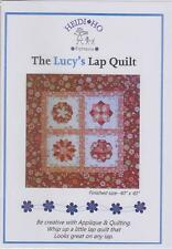 PATCHWORK & APPLIQUE QUILT PATTERN by HEIDI HO PATTERNS - LUCY'S LAP QUILT