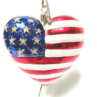 Christopher Radko Brave Heart Red Cross U.S. Flag 9/11 Christmas Ornament