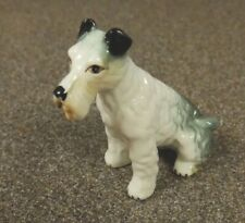 Porcelain Miniature Wire Haired Fox Terrier Figurine