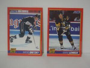1991-92 Score Hot Cards * Gretzky / Lemieux * 2 LOT