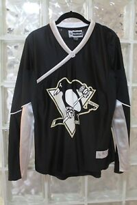PITTSBURGH PENGUINS WOMENS REEBOK HOCKEY JERSEY NHL NO NAME  LARGE GREAT SHAPE