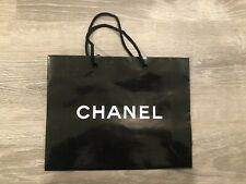 Chanel Medium Size Black Glossy Shopping Bag