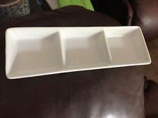 White Small Ceramic Nibbles/conditiments Dish