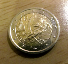 2 EURO GEDENKMÜNZE  *  ITALIEN 2006  *  OLYMPISCHE WINTERSPIELE TURIN  *