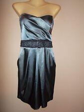 B. Darlin Juniors Size 7/8 Silver Purple Strapless Short Evening Gown