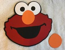 Pin the Nose on Elmo birthday party game. Free shipping!