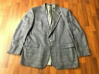 Vintage Orvis USA Union-Made Blue Tweed Blazer Jacket - 46L - Great Condition!