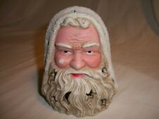 "Vintage Santa Claus Head Ceramic Tealight Votive Candle Holder 5"" Tall"