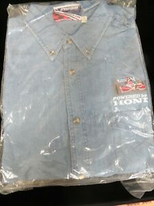 Denim Long-Sleeve Button Up Embroidered POWERED BY HONDA Shirt - New in Package