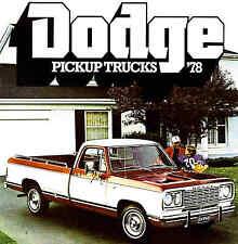 1978 DODGE PICKUP TRUCK BROCHURE -D100-D150-D200-D300-CUSTOM-ADVENTURER-DODGE