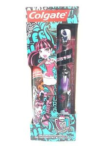 Rare Colgate Monster High Powered Toothbrush & 4.6 Oz Toothpaste Set, Limited