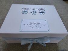 Extra Large Personalised New Baby Boy Keepsake Box Baby Memory Box 40x30x15