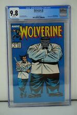 MARVEL COMICS CGC 9.8 WOLVERINE 8 6/89 WHITE PAGES