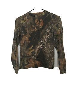 Mossy Oak Boys Long Sleeve Shirt Sz M MultiColor Top