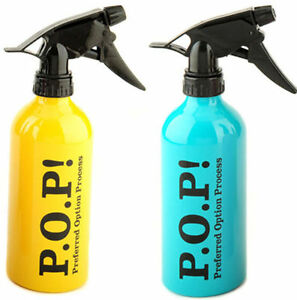 POP Salon Aluminium Water Spray Bottle (Yellow/Aqua)