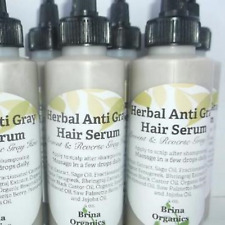 Herbal Anti Gray Hair Serum 4 oz., Prevent & Reverse Gray Hair, Brina Organics