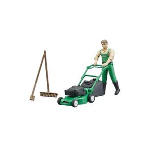 BRUDER #62103 bworld Gardener w/ Mower & Accessories NEW!