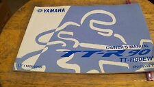 Yamaha TTR90 TT-R 90EW Owners Manuel