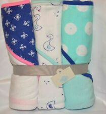 Cloud Island Baby Girls 3pk Hooded Bath Towels One Size