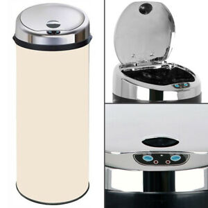 Inmotion Cream Stainless Steel Auto Sensor Kitchen Waste Dust Bin 30L, 42L, 50L