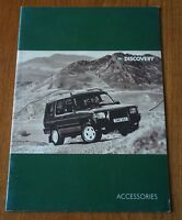 Land Rover Discovery Accessories Rare Brochure