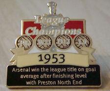 ARSENAL FC Victory Pins 1953 LEAGUE CHAMPIONS Danbury Mint badge 35mm x 35mm