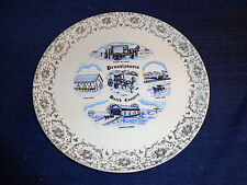 "Vtg Mis-spelled ? Pennslybania ? 9 -1/8"" Pennsylvania Dutch Country State Plate"