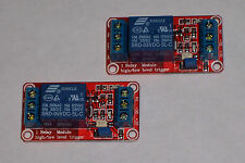 USA! 4 PCS -  5 VDC - 1 CHANNEL HIGH/LOW LEVEL INPUT, OPTO RELAY BOARD NEW!