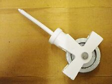 Antique look clothes line white cast iron single pulley with screw