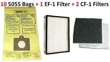 10 Bags Kenmore Progressive Canister Vacuum Cleaner 5055 C EF1 CF1 Filter Set