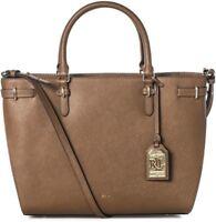 Ralph Lauren Winston Nikki Satchel Tote Luggage Bag, Brown, NEW $298