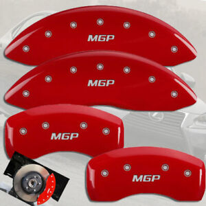 """2016-2021 Lexus RX350 Front + Rear Red Engraved """"MGP"""" Brake Disc Caliper Covers"""