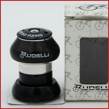 "NOS RUDELLI AHEADSET 1"" INCH BLACK VINTAGE 90S THREADLESS EC30 ROLLER BEARINGS"
