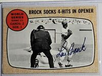 2002 Topps Archives/10 Autoproof 1968 Buyback Lou Brock Cardinals Autograph Auto
