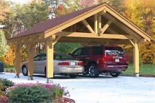 24x24 576 Sqft Heavy Timber Carport For 2 Vehicles Cars Prefab Wood Canopy
