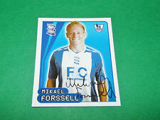 N°98 M. FORSSELL BIRMINGHAM CITY MERLIN PREMIER LEAGUE FOOTBALL 2007-2008 PANINI