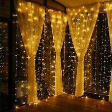 Curtain Lights, 8 Modes Fairy Lights String with Remote Controller, IP64 Waterpr