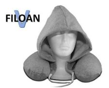 Filoan V Neck pillow with hoodie (travel pillow of polystyrene foam with hoodie)