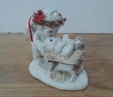 Dreamsicles Born This Day Figurine Cherub/Angel Kissing Baby Jesus 1994