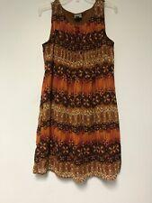 Rabbit Rabbit Rabbit Dress Brown Size 14 Cool Design