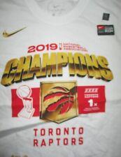 Nike 2019 TORONTO RAPTORS Champions Locker Room (MED) T-Shirt w Hologram Sticker