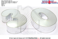 "Number Cake Baking Tin Rounded Corner | Pair Number 3 0 | 3"" Deep 