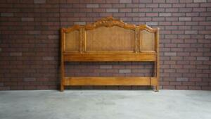 Queen/Full French Provincial Bed ~ Cabernet Collection Cane Headboard by Drexel